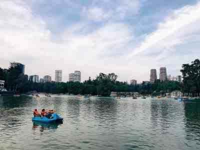 Paddle boating in Bosque de Chapultepec, one of the top things to do in Mexico City