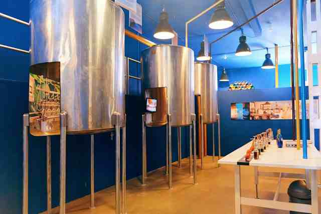 Distilling process of blue curacao at the Blue Experience tasting room, one of the top things to do in Curacao