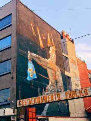 Mural outside Lucha Libre at Arena Mexico