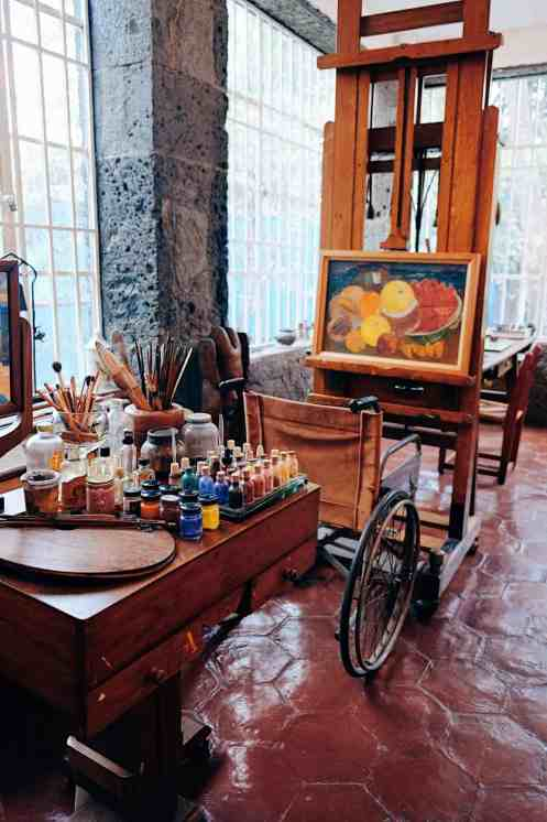 Top things to do in Mexico City, Frida Kahlo's art studio in her home.