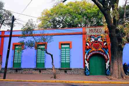 Front of the Frieda Kahlo museum, top things to do in Mexico City