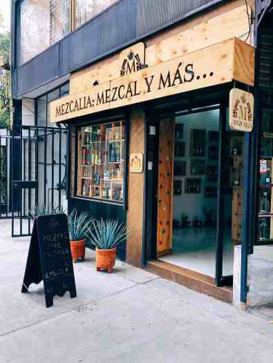 Mezcal tasting shop, one of the top things to do in Mexico City