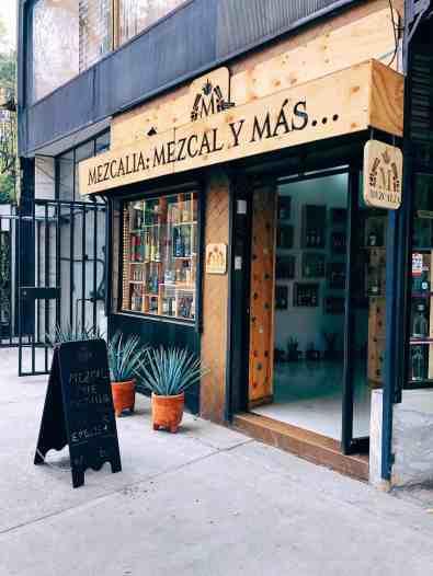 Mezcal tasting shop in Mexico City