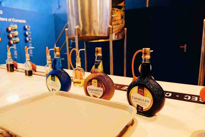 Blue curacao liqueur tasting, one of the top things to do in Curacao