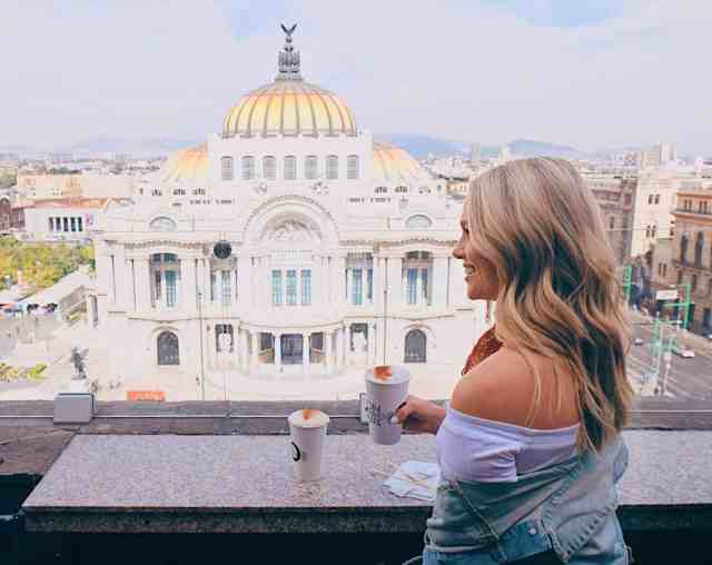 Top things to do in Mexico City, the view of Palacio de Bellas Artes from the Sears Tower