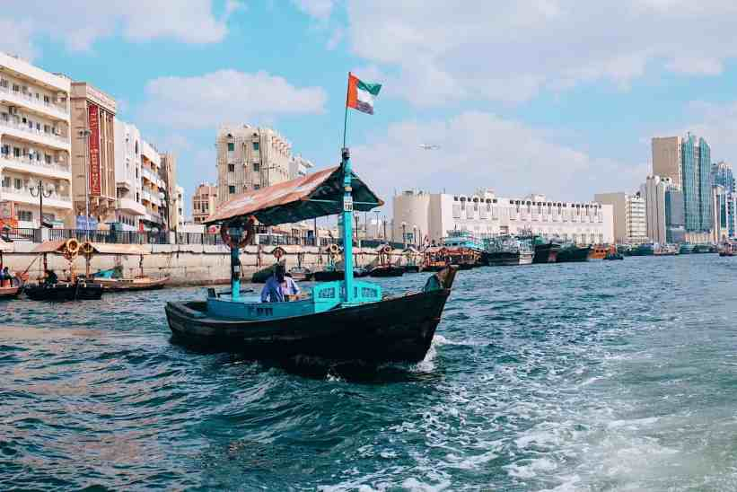 Abra boat ride, one of the top things to do in Dubai.