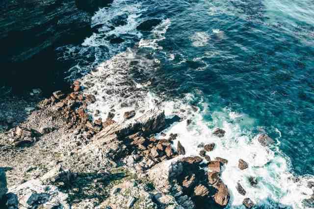 Ocean water at Cape of Good Hope
