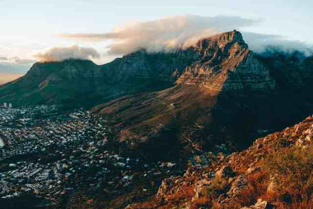 View of Table Mountain from Lions Head hike