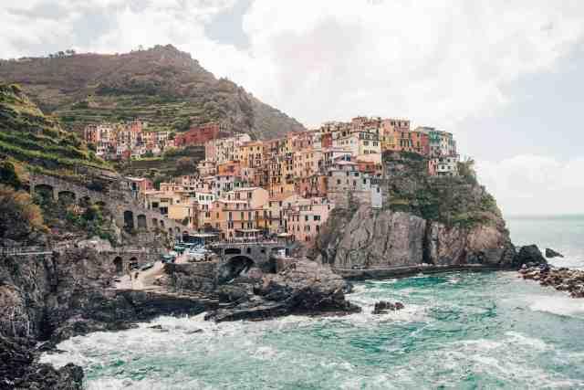 Manarola town views in Cinque Terre