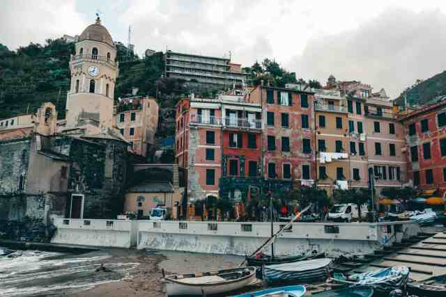 The beautiful Vernazza harbour, one of the top things to do in Cinque Terre