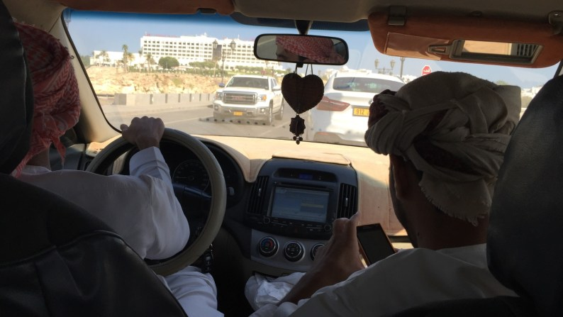 Oman Muscat Taxi Ride