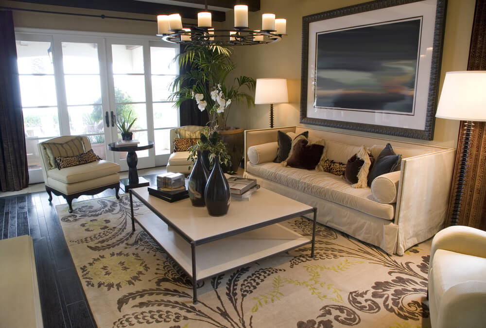 Average size of rug living room - What is the average size of a living room ...