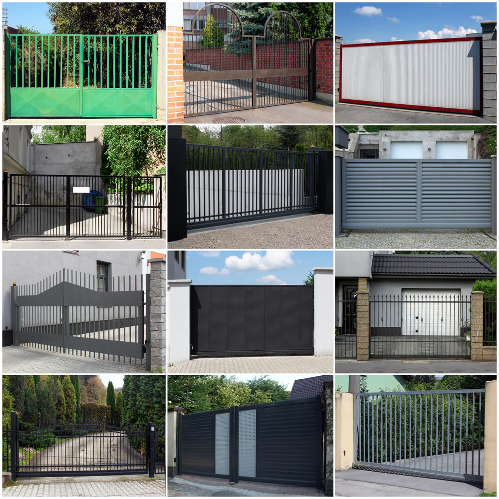 modern house gates and fences designs - Modern House on Gate Color Ideas  id=37462