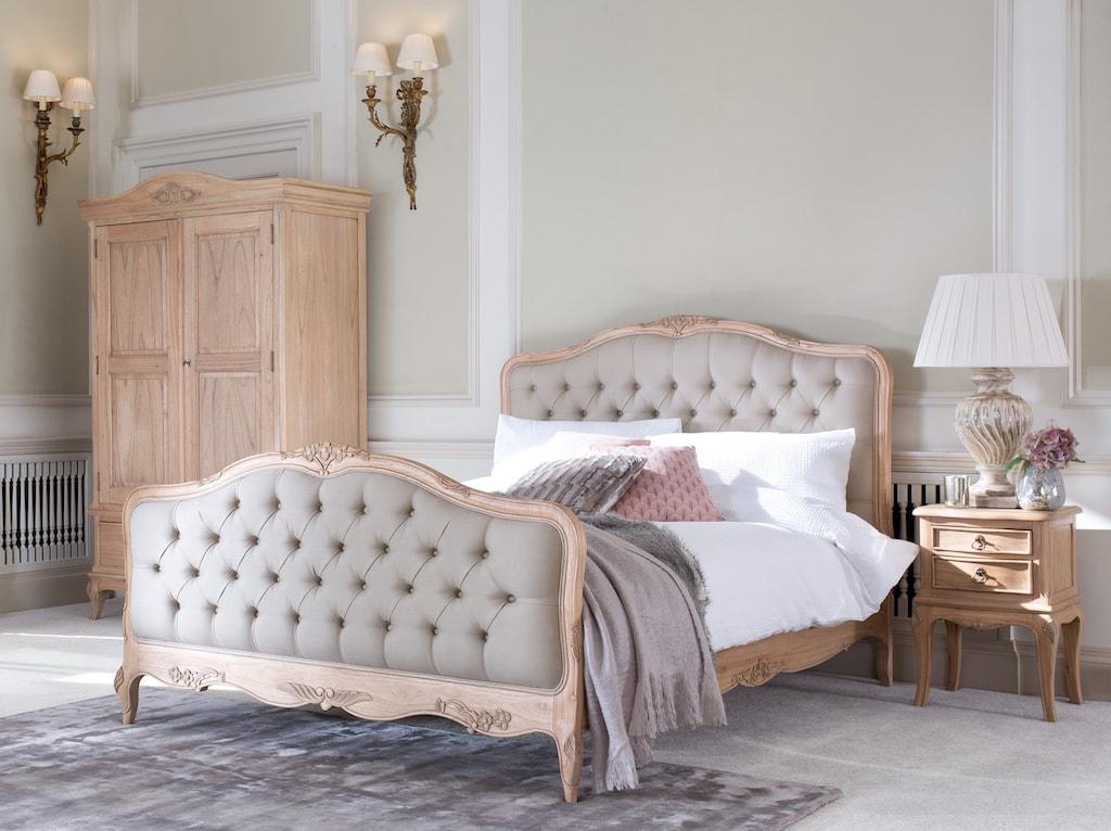 Avignon Beige Upholstered French Mindy Wood Bed Ebay
