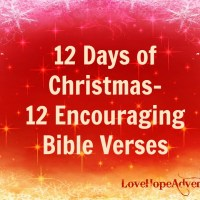 12 Days of Christmas- 12 Encouraging Bible Verses
