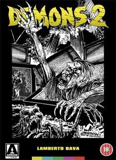 Demons 2 (1986) cover arrow
