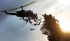 world war z zombie crowd helecopter