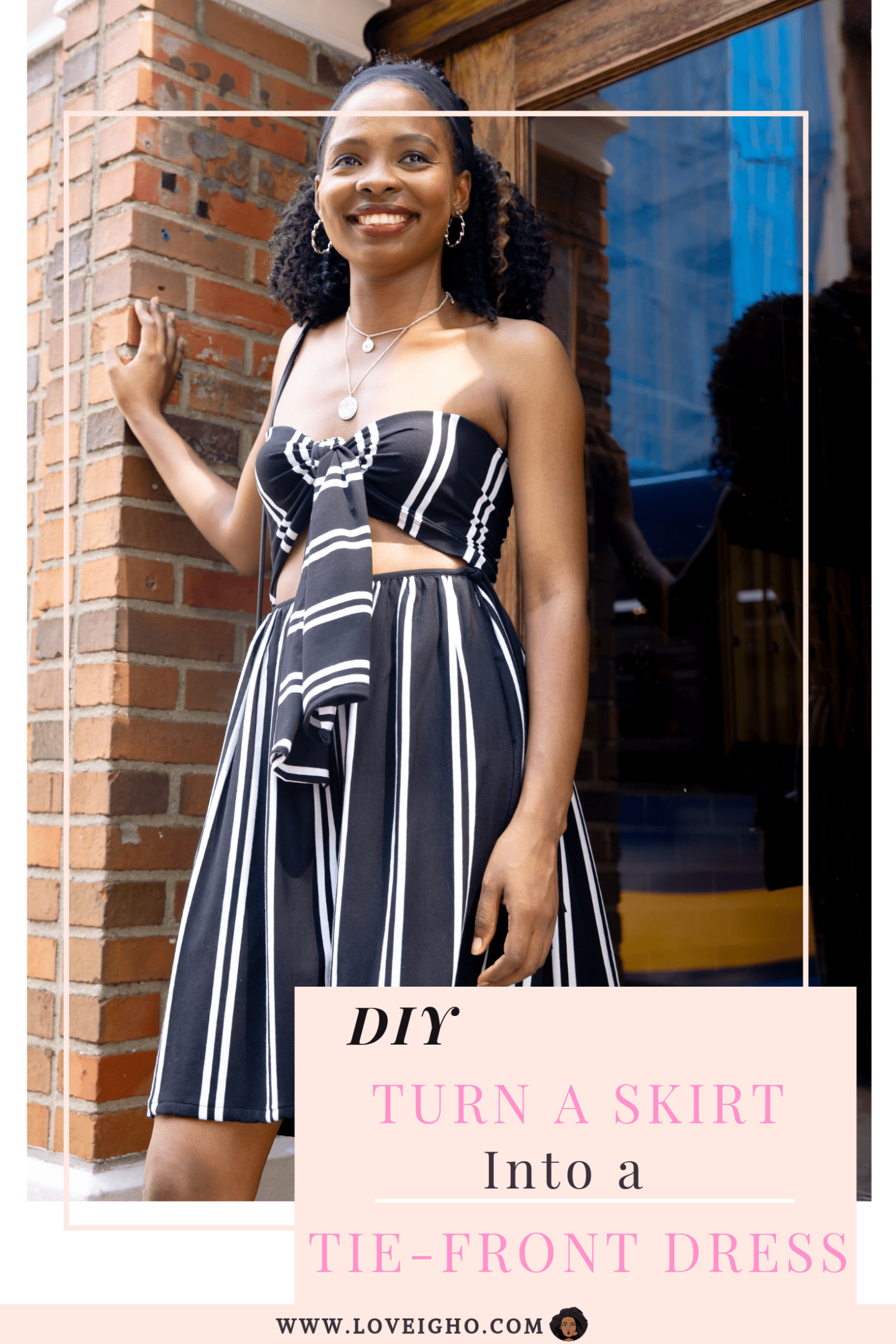 DIY - Turn A Skirt Into A Tie-Front Dress | Love Igho
