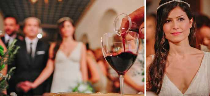 bottle of wine for the wedding