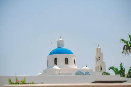 a beautiful church in santorini