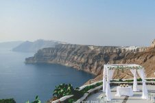 wedding with the caldera view