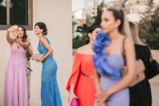 bridemaids at the church