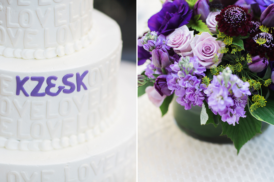 purple-and-gold-wedding-cake-flowers