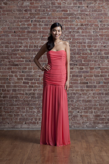 David s Bridal Bridesmaid Dress in Guava   Love Inc  MagLove Inc  Mag David s Bridal Bridesmaid Dress in Guava