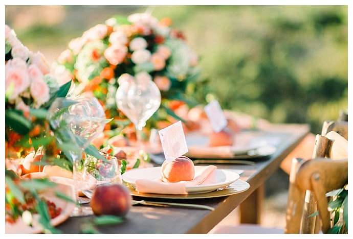 Mystical Watercolor And Peach Wedding Inspiration Love