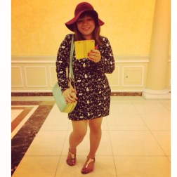 Tita Duties/ Aldo Shoes/ Charles & Keith Bag/ Vintage Shirt dress/ Forever21 Hat/ Iphone5S