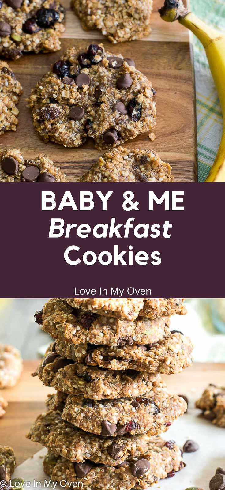The newest breakfast cookie for you and your babe. Baby-led-weaning and Mommy-on-the-go friendly!!