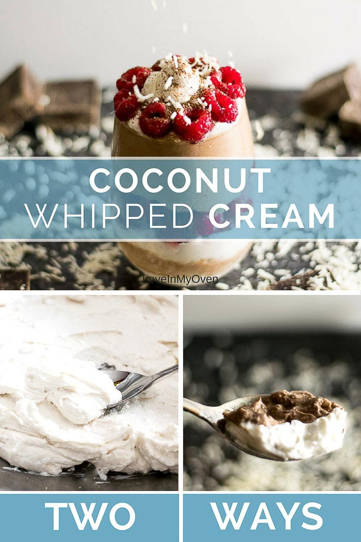 Coconut or chocolate-coconut whipped cream. Your new favorite topping for all of your desserts!