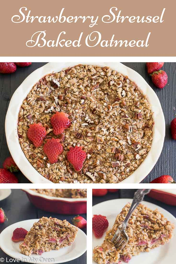 Have pie for breakfast with a little less guilt with this streusel-topped strawberry baked oatmeal.