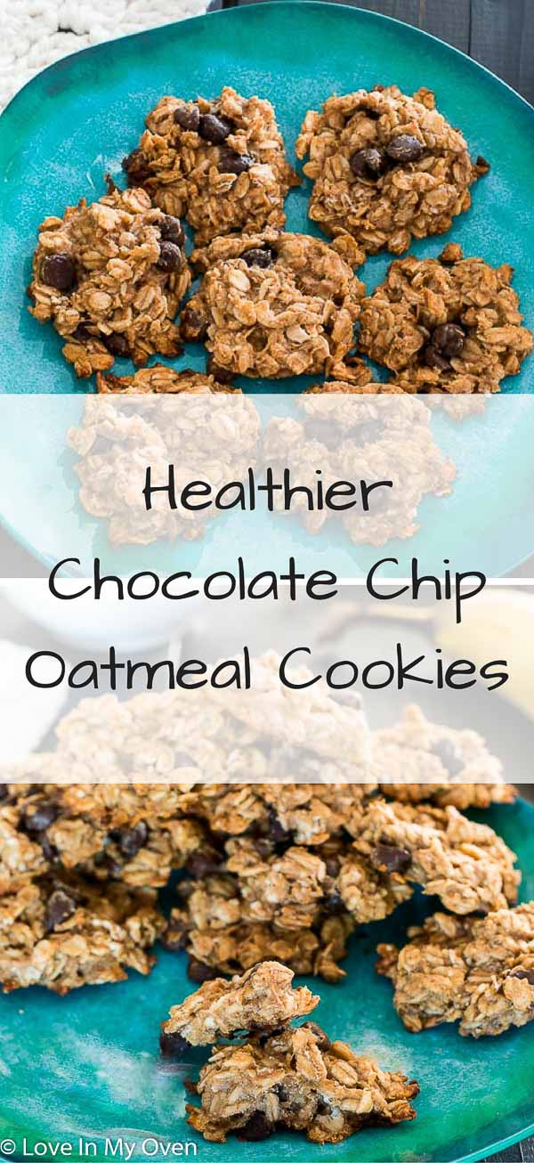 Healthier Chocolate Chip Oatmeal Cookies