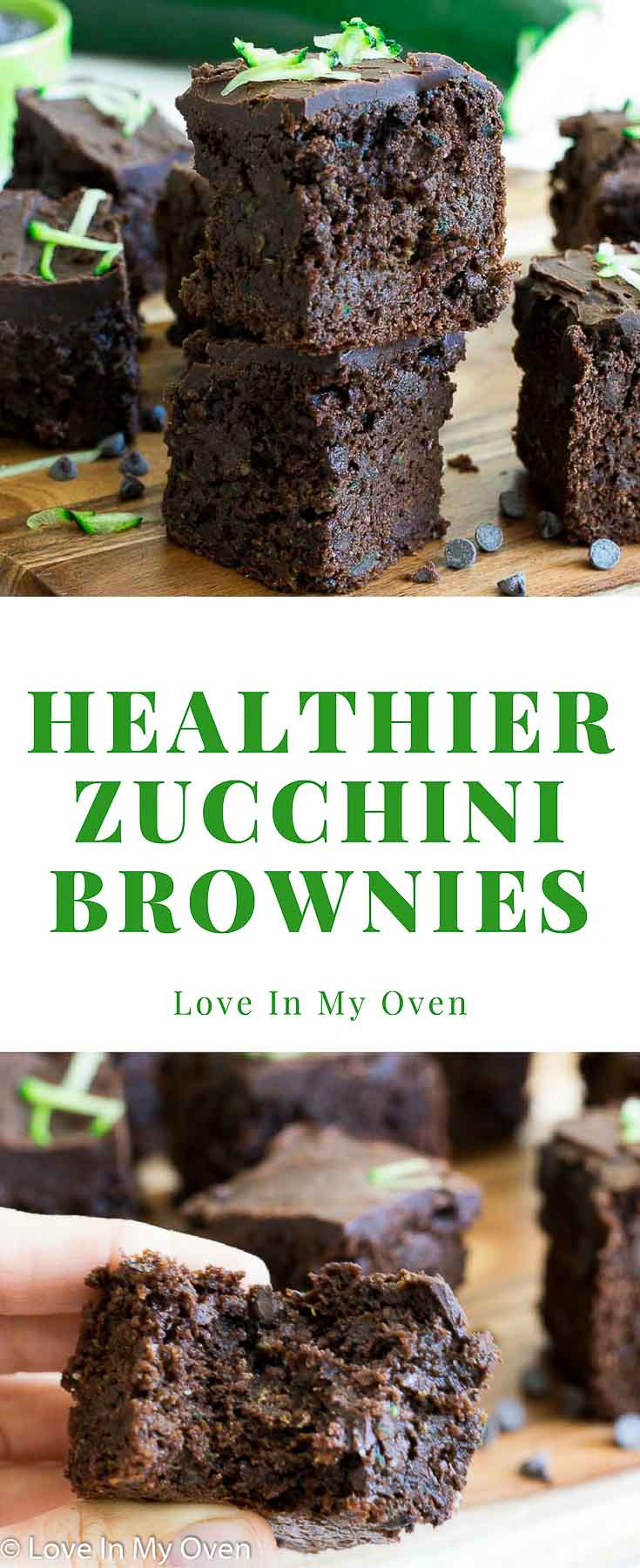Moist, fudgy, healthier brownies made with shredded zucchini and almond butter! You won't be able to stop at just 1!