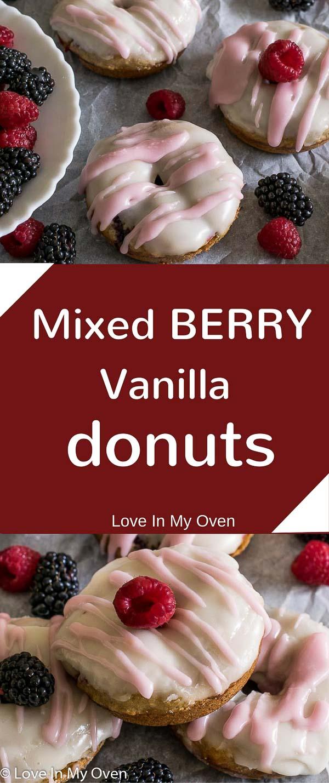 Mixed Berry Vanilla Donuts