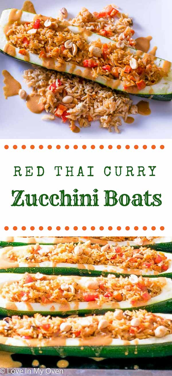 red thai curry zucchini boats