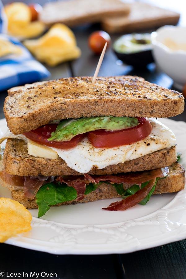 Crispy Proscuitto Sandwich