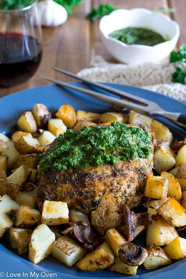 Roasted Chimichurri Pork