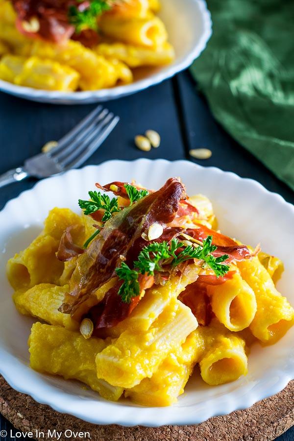 Butternut Squash Pasta with Crispy Prosciutto