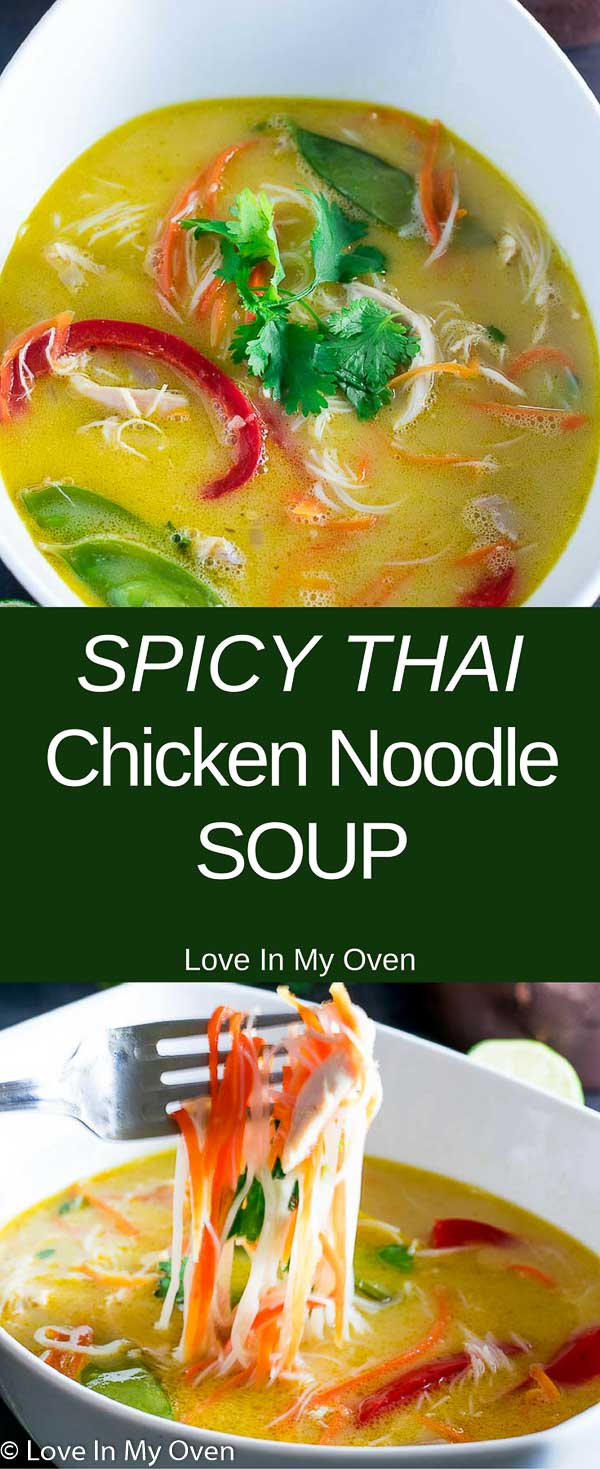 spicy thai chicken noodle soup