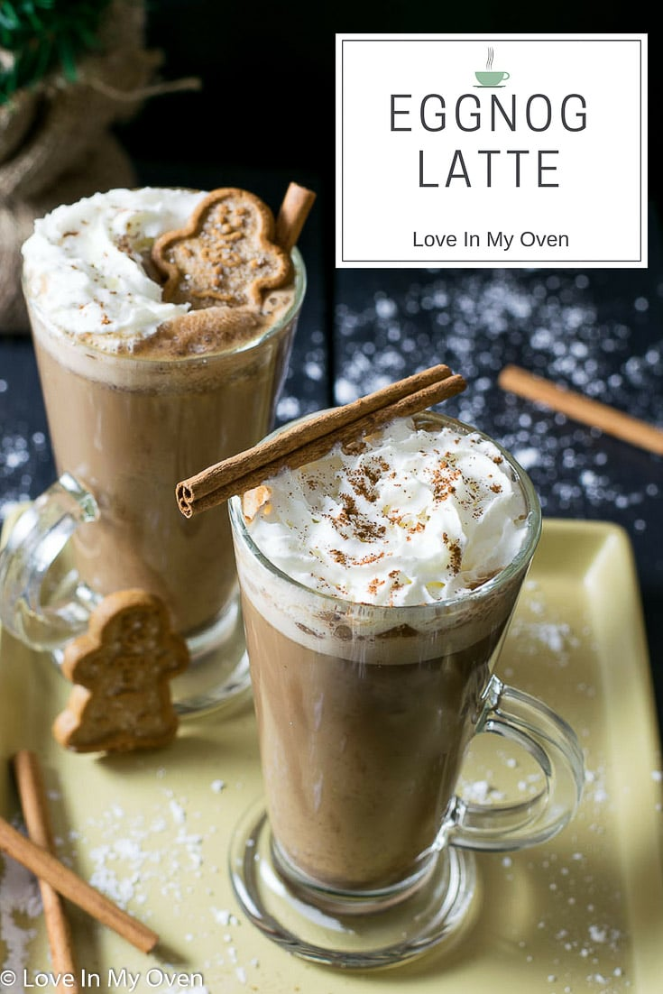 You'll never believe how easy it is to make your own creamy, steaming eggnog latte at home! Take advantage of it during this holiday season!