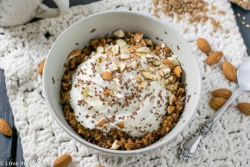 almond java breakfast bulgur