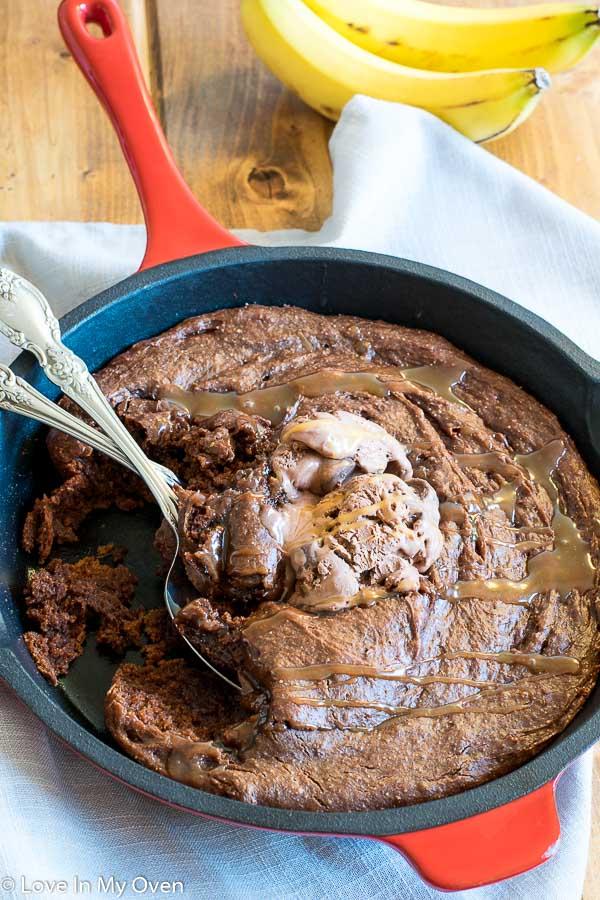 Gluten-Free Skillet Brownie
