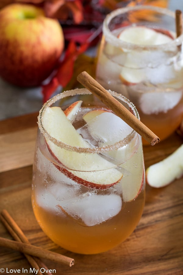 Apple Cinnamon Gin Fizz