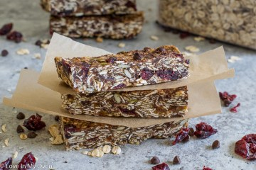 Nut-Free Chewy Granola Bars