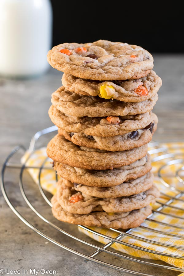 Browned Butter Reese's Pieces Cookies
