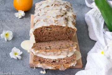 orange zucchini bread loaf