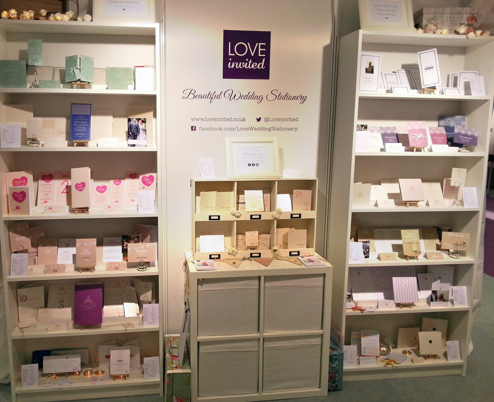 Our wedding invitations at the National Wedding Show Manchester