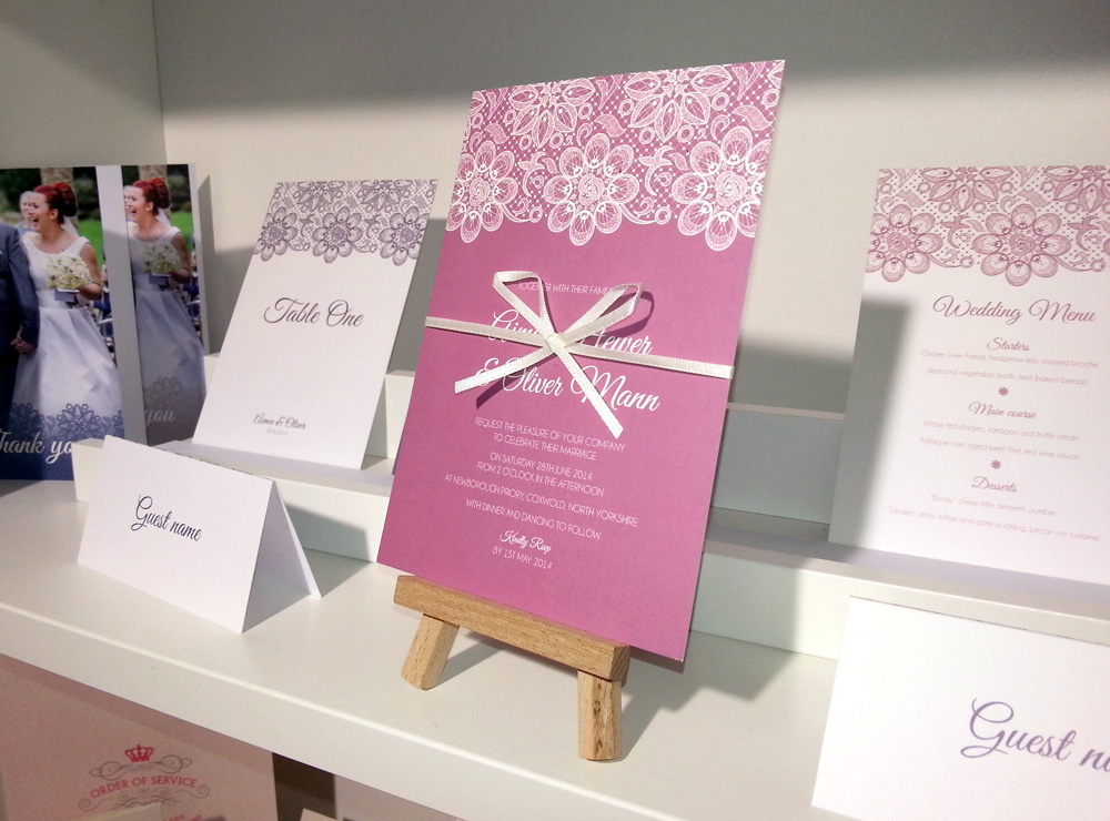 Our invitations at the National Wedding Show Manchester